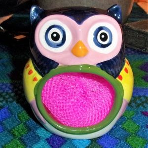Artsy Owl Ceramic Scrubber Holder Boston Warehouse